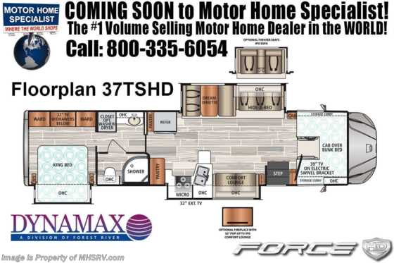 2020 Dynamax Corp Force HD 37TS Super C W/ Theater Seats, Ent Center & Sat Floorplan