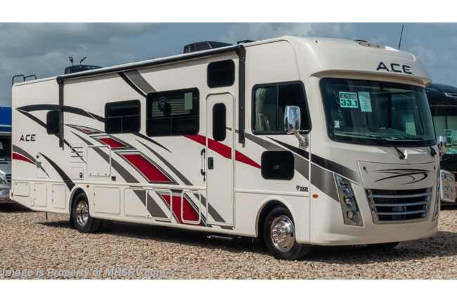 2020 Thor Motor Coach A.C.E. 33.1 Pet Friendly ACE W/ Theater Seats, 2 A/Cs, King, OH Loft