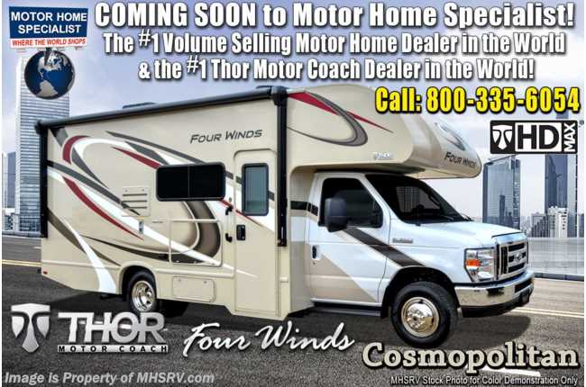 2020 Thor Motor Coach Four Winds 22E RV for Sale W/ 15K A/C, Ext TV, Convection