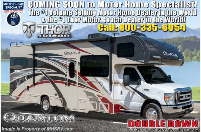 2020 Thor Motor Coach Quantum RW28 RV W/ Theater Seats, Stabilizers & Nav