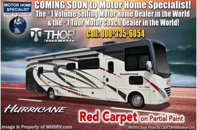 2020 Thor Motor Coach Hurricane 35M Bath & 1/2 W/ OH Loft, King, Ext TV