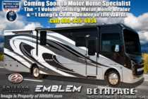 2020 Entegra Coach Emblem 36H Class A Gas Luxury RV W/ King, OH Loft & W/D
