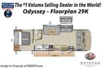 2020 Entegra Coach Odyssey 29K RV W/ Theater Seats, Jacks & Bedroom TV