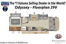 2020 Entegra Coach Odyssey 29V RV W/ Theater Seats & Bedroom TV