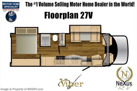 2020 Nexus Viper 27V RV for Sale W/ Theater Seats & 15K A/C Floorplan