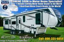 2020 Heartland  ElkRidge ER 38 RSRT 2 Full Bath Bunk Model W/ Auto Level, Dual Pane & King
