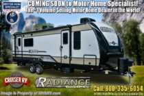 2020 Cruiser RV Radiance Ultra-Lite 26BH Bunk Model RV W/ 2 A/Cs, King & Stabizers