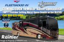 2019 Fleetwood Discovery 38K Bath & 1/2 W/ Aqua Hot, Tech Pkg, Theater Seats, 3 A/C