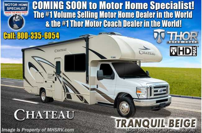 2020 Thor Motor Coach Chateau 25V RV for Sale W/ Ext TV, 15K A/C, Stabilizers