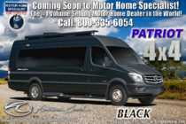 2020 American Coach Patriot MD4- Lounge 4x4 Sprinter Diesel W/Black Rims, Custom Paint, Lithium Eco Pkg