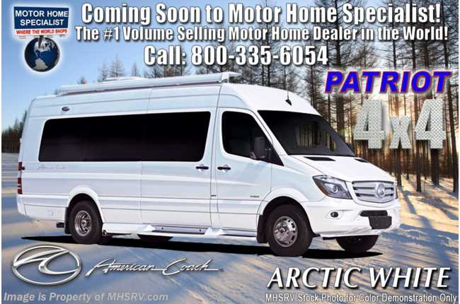 2020 American Coach Patriot MD4- Lounge 4x4 Sprinter Diesel W/ WiFi, OH TV