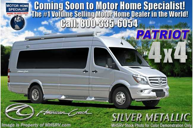 2020 American Coach Patriot MD4- Lounge 4x4 Sprinter Diesel W/ Lithium Eco Pkg, WiFi, OH TV