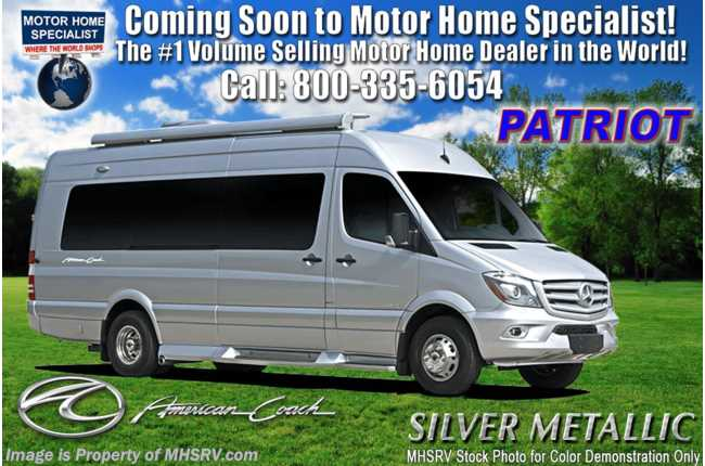 2020 American Coach Patriot MD4- Lounge Sprinter Diesel W/ OH TV & WiFi