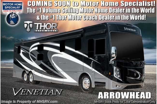 2020 Thor Motor Coach Venetian B42 2 Full Bath Bunk Model W/400HP, New Digital Dash