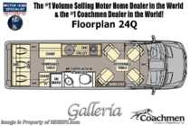 2020 Coachmen Galleria 24Q 4x4 Sprinter W/ Li3 Lithium, 20K A/C, Sumo Springs