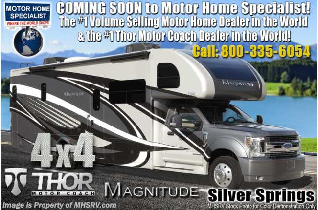 2020 Thor Motor Coach Magnitude XG32 4x4 330HP Diesel Super C RV for Sale W/ Theater Seats