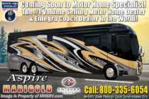 2020 Entegra Coach Aspire 42DEQ W/Theater Seats, In-Motion Sat, Cobblestone & Solar