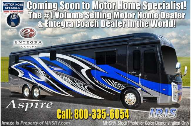2020 Entegra Coach Aspire 44W Bath & 1/2 Luxury Diesel Pusher W/ 450HP, WiFi & Solar