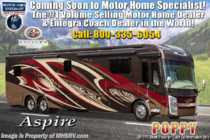 2020 Entegra Coach Aspire 44W Bath & 1/2 Luxury Diesel Pusher W/ Theater Seats, Solar & 450HP