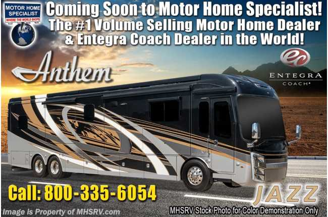 2020 Entegra Coach Anthem 44A Bath & 1/2 Luxury RV W/ Theater Seats, WiFi, In-Motion Sat