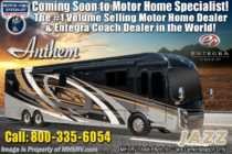2020 Entegra Coach Anthem 44B Bath & 1/2 Luxury RV W/ WIFI, In-Motion Sat & 450HP