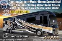 2020 Entegra Coach Cornerstone 45F Bath & 1/2 W/ 600HP, WiFi, Solar, King Bed