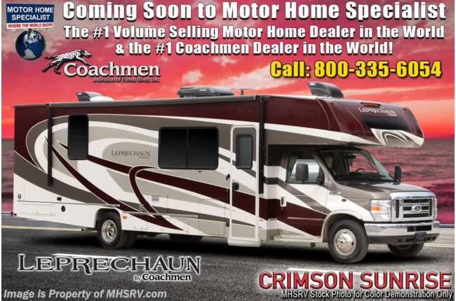 2020 Coachmen Leprechaun 319MB W/ FBP, Exterior TV, Dual Recliners, Aluminum Rims, Jacks
