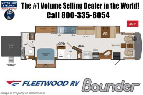 2020 Fleetwood Bounder 36FP Bath & 1/2 Bunk Model RV for Sale W/ OH Loft, King Floorplan
