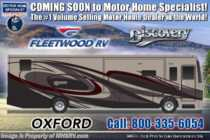 2020 Fleetwood Discovery 38K Bath & 1/2 Class A Gas RV W/ Theater Seats, 3 A/Cs, Tech Pkg