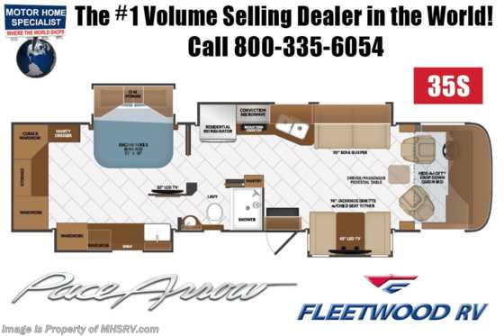 2020 Fleetwood Pace Arrow 35S Diesel Pusher RV for Sale W/ Theater Seats, Tech Pkg, W/D Floorplan