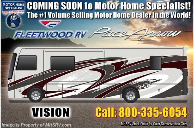 2020 Fleetwood Pace Arrow 35S Diesel Pusher RV for Sale W/ Theater Seats, Tech Pkg, W/D