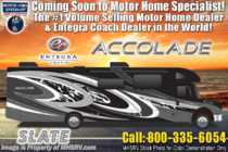 2020 Entegra Coach Accolade 37L Bunk Model Diesel Super C W/ 360HP, W/D & Sat