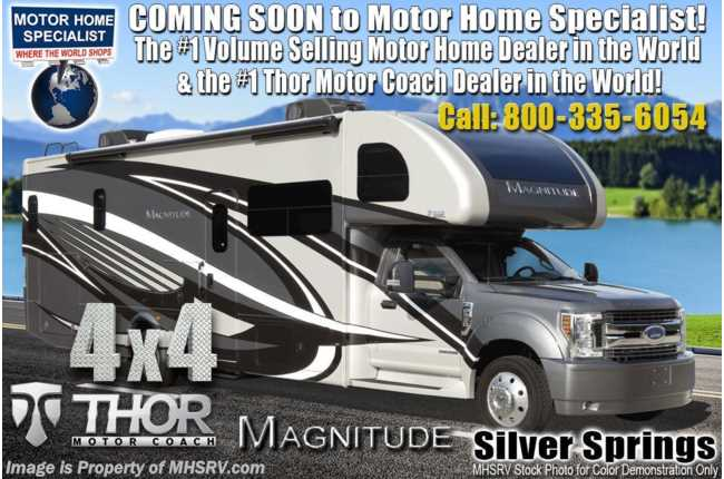 2020 Thor Motor Coach Magnitude SV34 4x4 330HP Diesel Super C W/Mobile Eye, Theater Seats