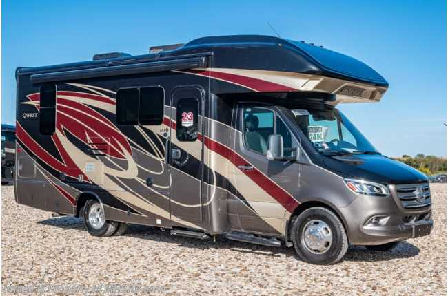 2020 Entegra Coach Qwest 24K Sprinter Diesel RV for Sale W/ Jacks, 2 Yr Warranty & Dsl Gen