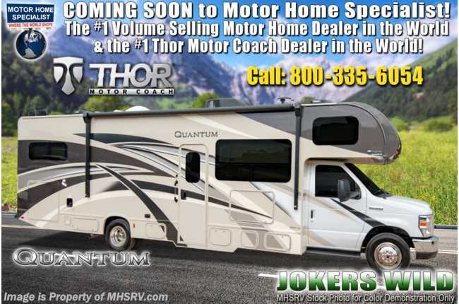 2020 Thor Motor Coach Quantum LF31 Bunk Model W/ Premier & Diamond Pkg & 2 A/Cs