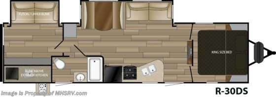 2020 Cruiser RV Radiance Ultra-Lite 30DS Bunk Model RV W/ King, Stabilizers & 2 A/Cs Floorplan