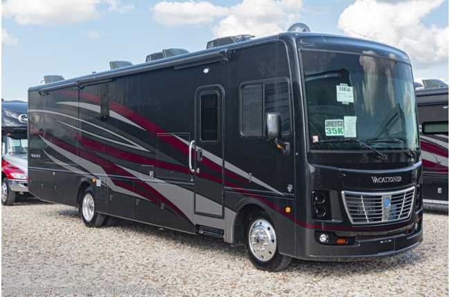 2020 Holiday Rambler Vacationer 35K Bath & 1/2 Class A Gas RV W/King, Blind Spot Detection