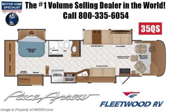 2020 Fleetwood Pace Arrow 35QS Diesel Pusher RV for Sale W/ Theater Seats, Tech Pkg, W/D Floorplan