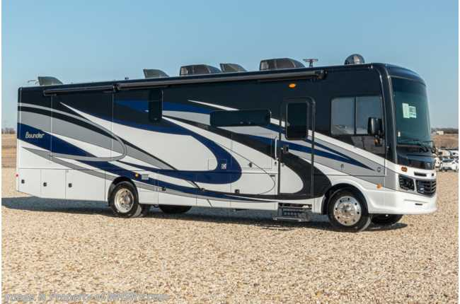2020 Fleetwood Bounder 35K Bath & 1/2 Class A Gas RV W/King, Theater Seating Sofa, Solar