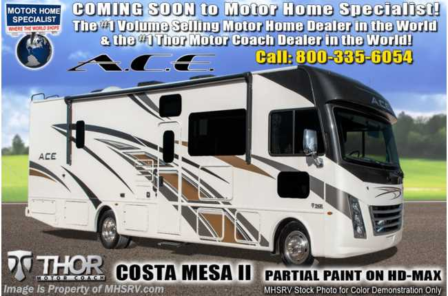2020 Thor Motor Coach A.C.E. 33.1 Pet Friendly ACE W/ Theater Seats, OH Loft, King & 2 A/Cs