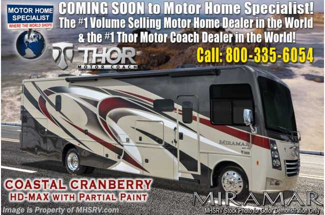 2020 Thor Motor Coach Miramar 35.4 Bath & 1/2 RV for Sale W/ Dual Pane, Theater Seat & King