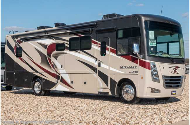 2020 Thor Motor Coach Miramar 35.4 Bath & 1/2 RV for Sale W/Theater Seat, Power Loft, King, Fireplace & More!