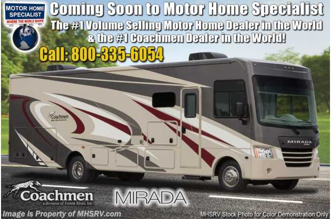 2020 Coachmen Mirada 35BH Bunk Model, Bath & 1/2, OH Loft, 2 A/Cs