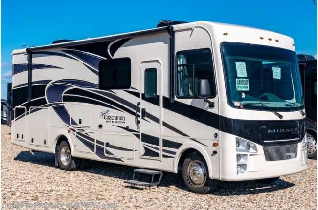 2020 Coachmen Mirada 29FW W/ 2 A/Cs, King Bed, Exterior TV