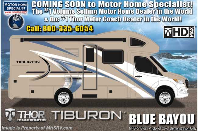 2021 Thor Motor Coach Tiburon 24FB Sprinter Dsl W/ 15.0 A/C with Heat Pump