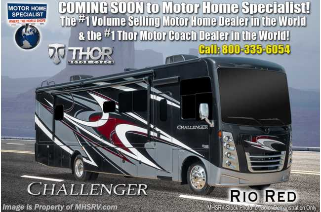 2020 Thor Motor Coach Challenger 37FH Bath & 1/2 RV W/ Theater Seats, King, OH Loft, Ext TV