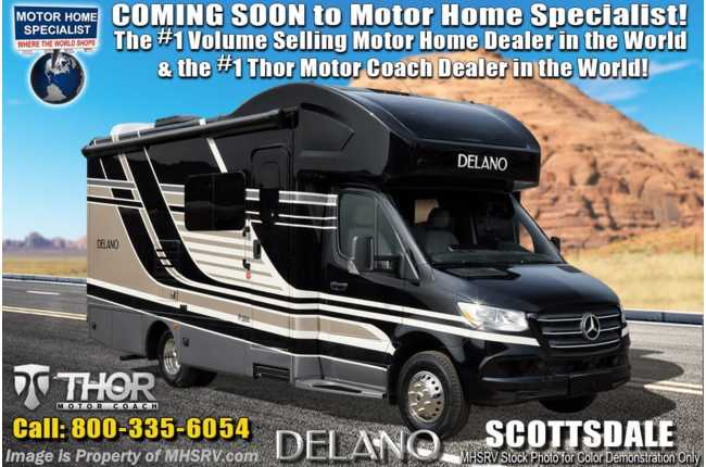 2020 Thor Motor Coach Delano Sprinter 24RW Sprinter Dsl W/ Theater Seating, Diesel Generator, Auto Leveling
