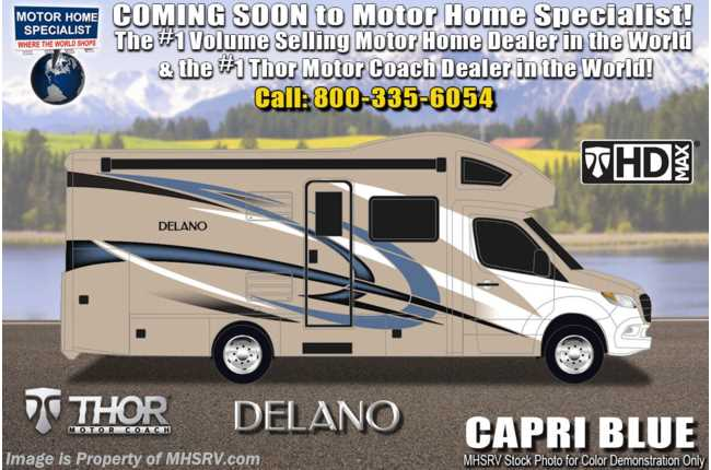 2021 Thor Motor Coach Delano Sprinter 24RW Sprinter Dsl W/ Theater Seats, 15K A/C & Stabilizers