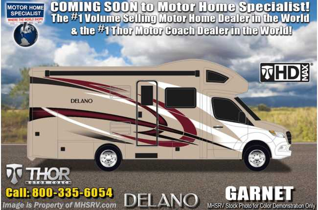 2020 Thor Motor Coach Delano Sprinter 24FB Sprinter Diesel W/ 15K A/C With Heat Pump