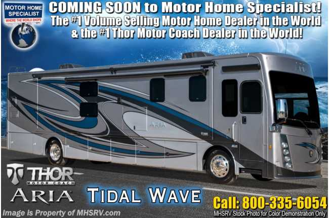 2021 Thor Motor Coach Aria 3901 Luxury Bath & 1/2 Diesel RV W/ King, Theater Seats, 360HP